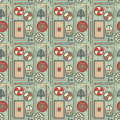 seamless viking pattern 01
