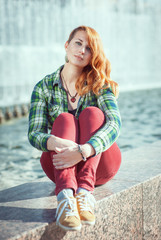 Hipster redhead girl