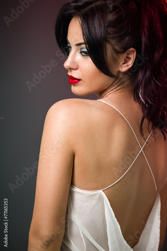canvas print picture beautiful woman in sexy dress
