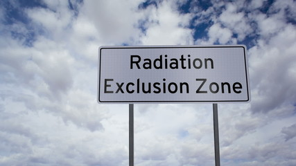 Sign Radiation Exclusion Zone Timelapse