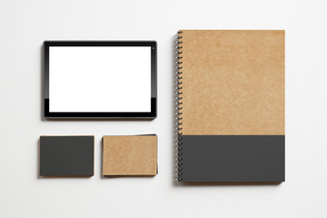 Templates if identity elements and tablet