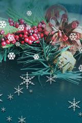 Retro Style Christmas Card