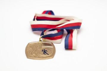 Medal on white background