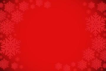 Red snowflake design frame pattern
