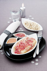 cod fillet with sauce