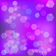 Purple abstract background with bokeh. Raster