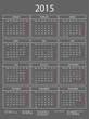 Kalender 2015 dunkelgrau mit Rahmen