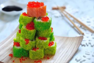 Maki Sushi Roll for Christmas