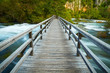 canvas print picture - Boardwalk in the park
