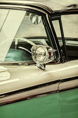 Retro styled detail of a vintage car