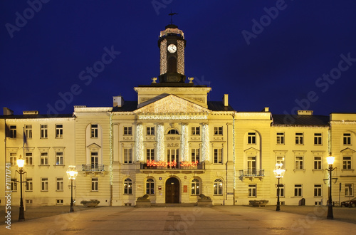 City hall in Plock. Poland
