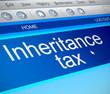 Inheritance tax concept.