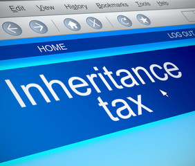 Inheritance tax concept.