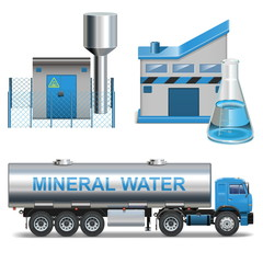 Vector Mineral Waters Production