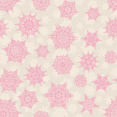 Christmas seamless pattern snowflake. EPS 10