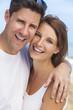 Happy Man Woman Couple At Beach