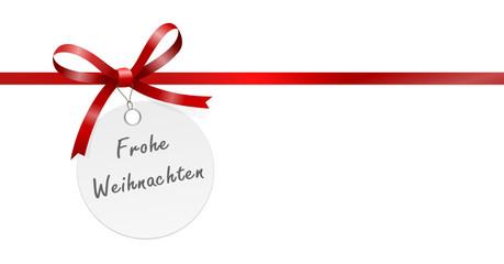 Anhänger Schleife frohe Weihnachten