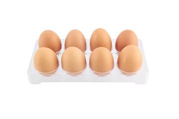 Egg pack on isolated white background