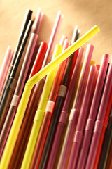 Colorful cocktail straws