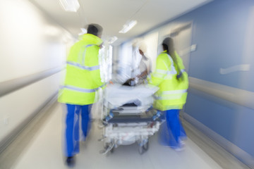 Motion Blur Stretcher Gurney Patient Hospital Emergency