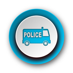 police blue modern web icon on white background