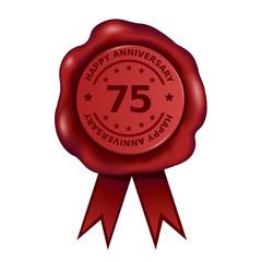Happy Seventy Five Year Anniversary Wax Seal
