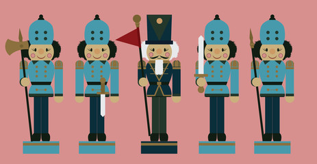 set of christmas soldier nutcrackers