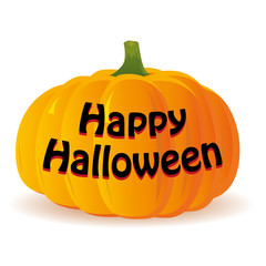 Haloween pumpkin isolated on white background, vector