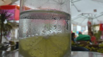 Lemonade fresh drink with lemon