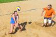 Annahme beim Beachvolleyball