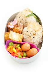 Boy motif rice ball