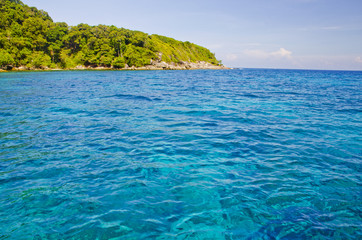 Blue Sea in Tachai Island, Thailand
