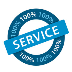 Tampon 100% SERVICE (satisfaction clients qualité)
