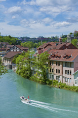 River Aare in Bern, Switzerland.