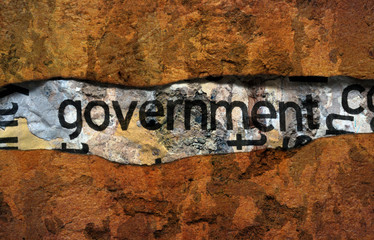Government text on grunge background