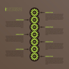 Abstract 3D infographic vector. Business template with gear