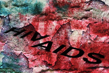 AIDS concept on grunge background