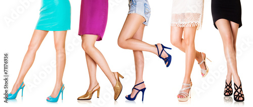 Beautiful woman legs with shoes.Fashion styles 2 - 71176936