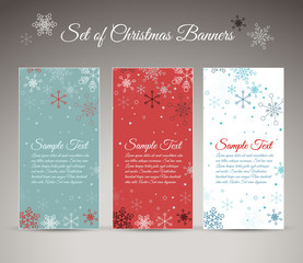 Set of vector christmas / New Year vertical banners