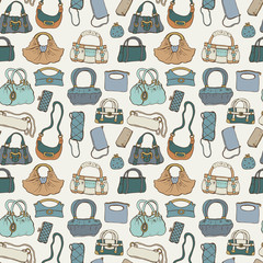 Women handbags. Seamless pattern.