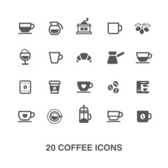 Coffee icons set.