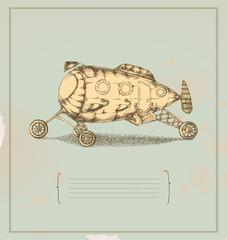 Transportation apparatus - invention - vintage drawing