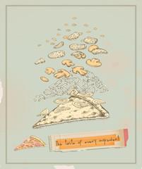 pizza slice layers