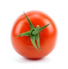Fresh red tomato isolated on white