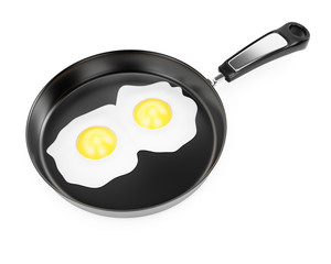 Pan with fried