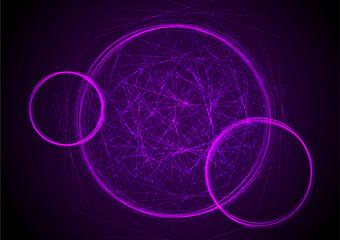 circle abstract lights