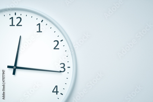 canvas print picture clock at the wall