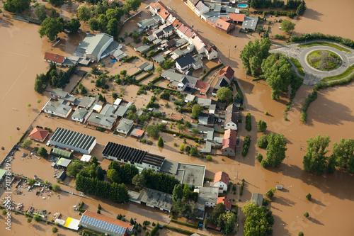 Leinwanddruck Bild Hochwasser/Überschwemmung