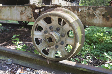 wheel from train