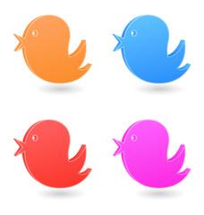 bird icon 3d